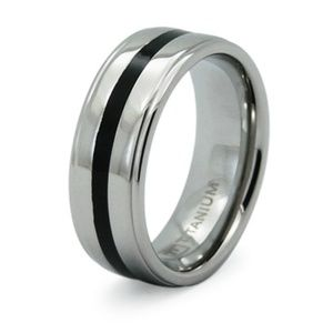 Other - Men's Titanium Resin Stripe Wedding Band 8MM